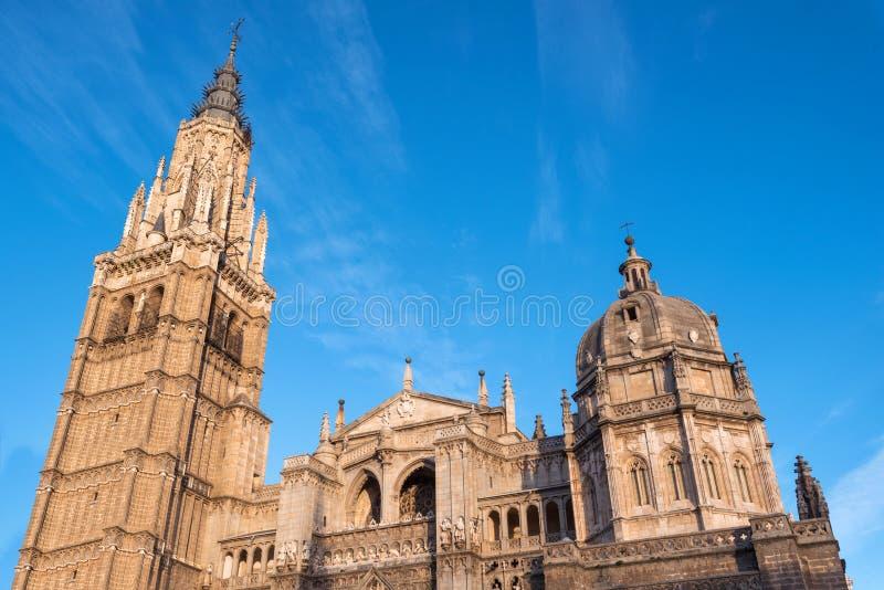 Sławna punktu zwrotnego Toledo katedra, Castilla los angeles Mancha, Hiszpania zdjęcia stock