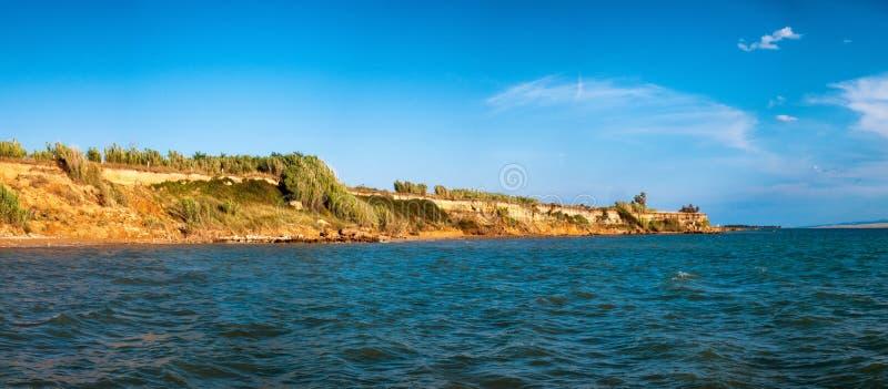 Sławna Sabunike plaża na Privlaka półwysepie blisko Nin, Zadar okręg administracyjny, Chorwacja obraz royalty free
