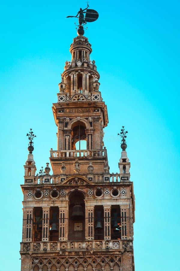 Sławna turysty przyciągania Seville katedra, Hiszpania zdjęcie royalty free