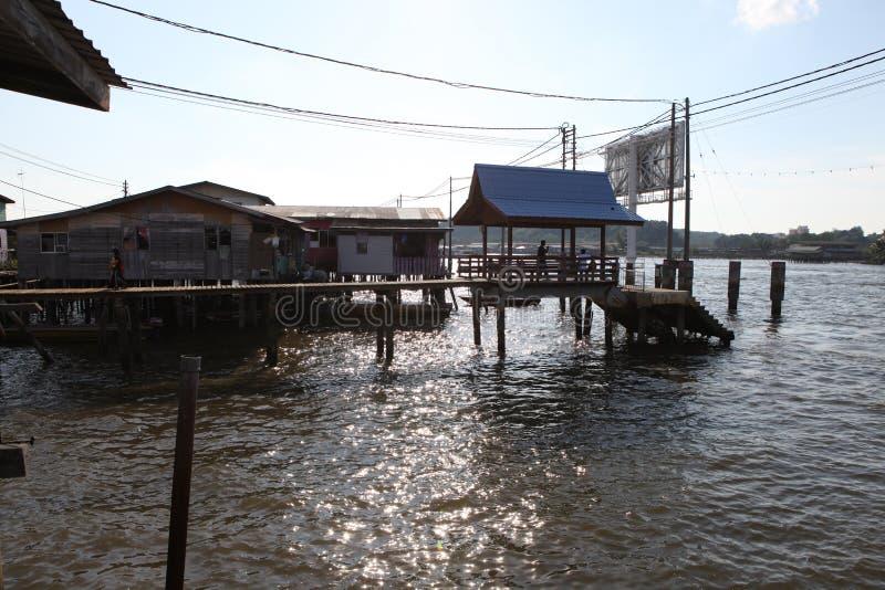 Sławna Wodna wioska w Brunei Borneo zdjęcie stock