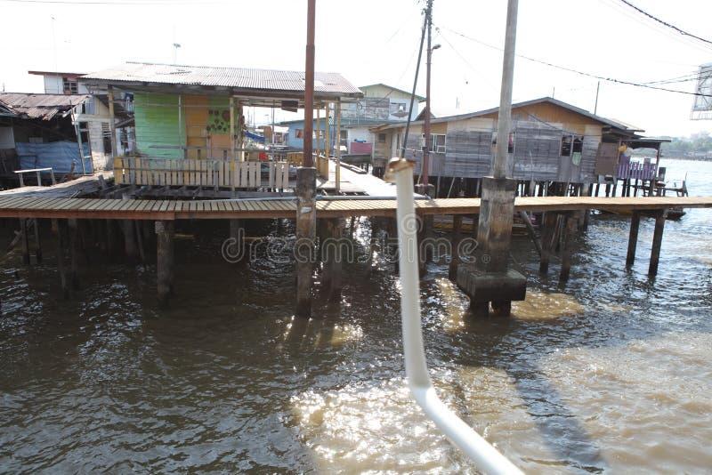 Sławna Wodna wioska w Brunei Borneo obraz royalty free