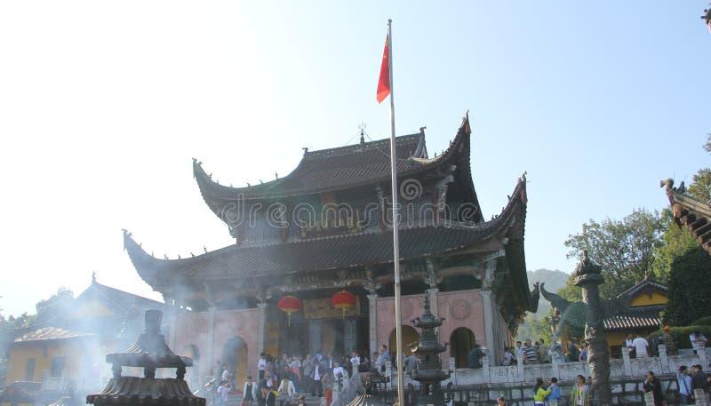 Sławne góry jiuhuashan Chiński buddyzm zdjęcie stock
