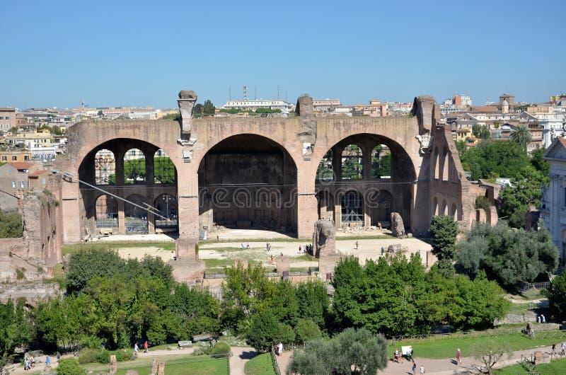 Sławne ruiny w mieście Rzym zdjęcie royalty free