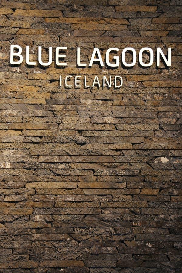 Sławnej Błękitnej laguny Geotermiczny zdrój w Iceland zdjęcia stock