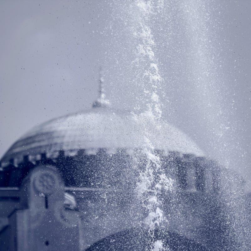 Sławni founts przed Hagia Sophia, Istanbuł, TURCJA - zdjęcie royalty free