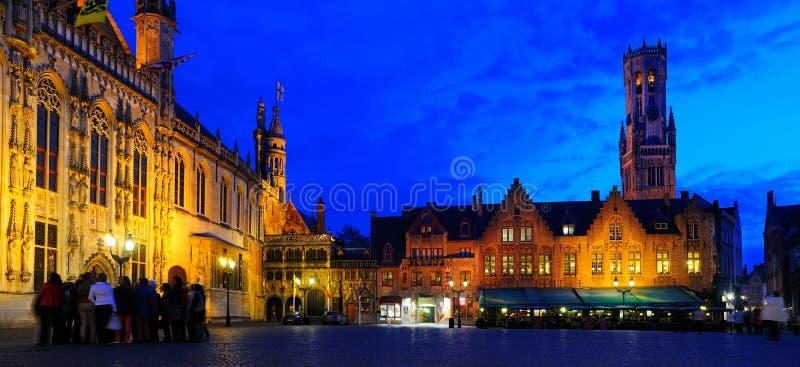Panorma Burg, Brugge. fotografia stock
