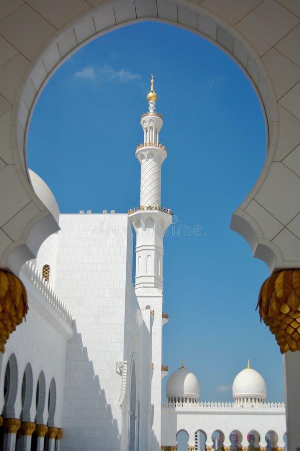 Sławny Abu Dhabi Uroczysty meczet w ciągu dnia obrazy royalty free