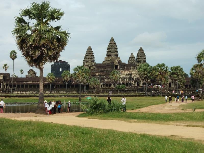 Sławny Angkor Wat w Siem Przeprowadza żniwa obraz stock