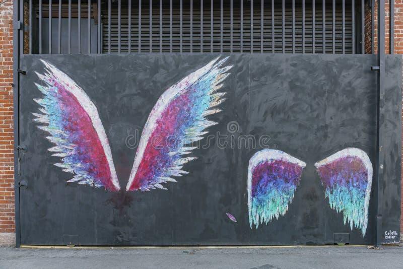 Sławny anioł uskrzydla w sztuka okręgu CC$OP obrazy royalty free