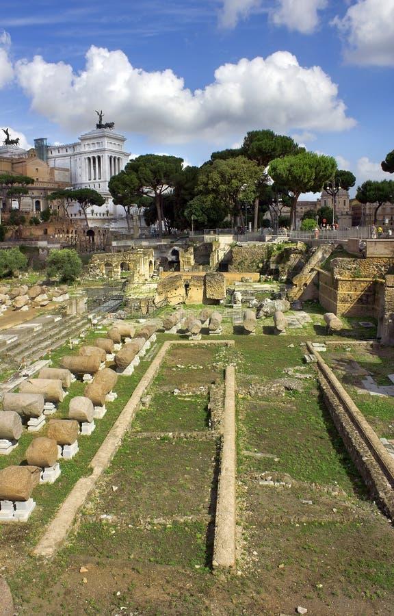 Sławny antyczny Romański forum, Rzym, Włochy obrazy royalty free