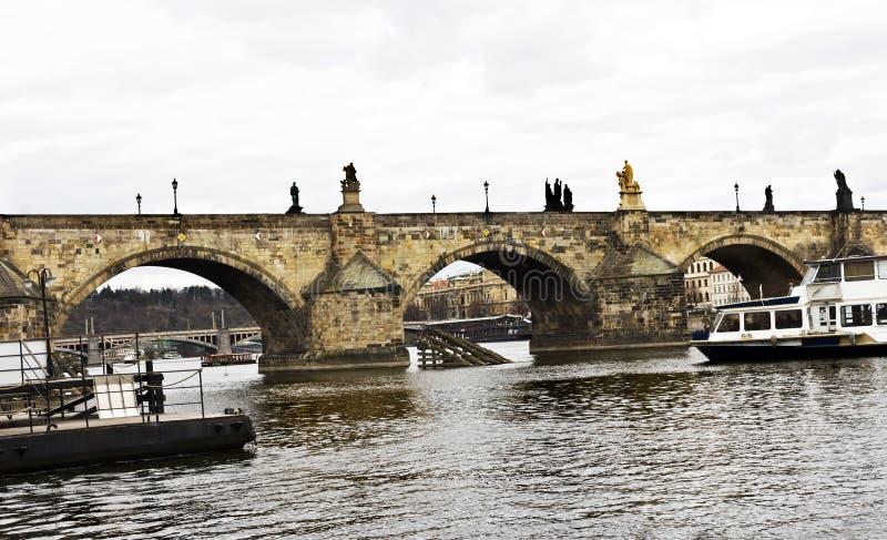 Sławny Charles most, Praga, republika czech obraz royalty free