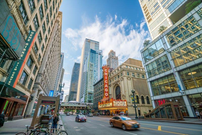 Sławny Chicagowski teatr na State Street obrazy stock