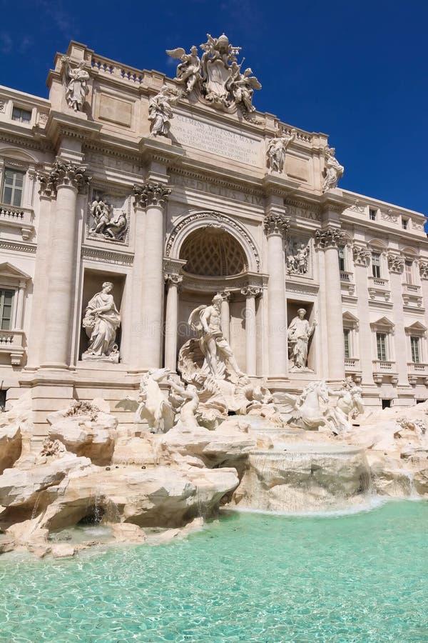 Sławny De Trevi Fontanna, Rzym, Włochy zdjęcia royalty free