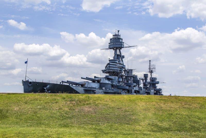 Sławny Dreadnought pancernik w Teksas fotografia stock