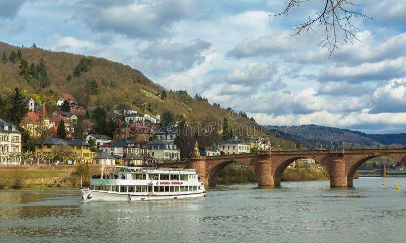 Sławny Heidelberg ` s stary most zdjęcie royalty free