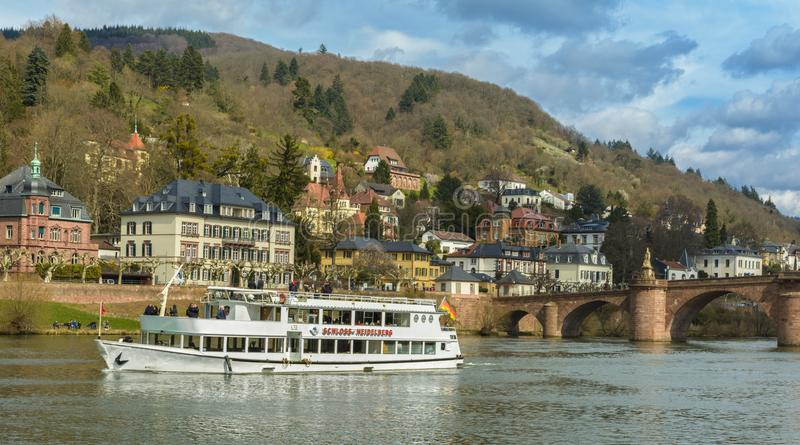 Sławny Heidelberg ` s stary most zdjęcia royalty free