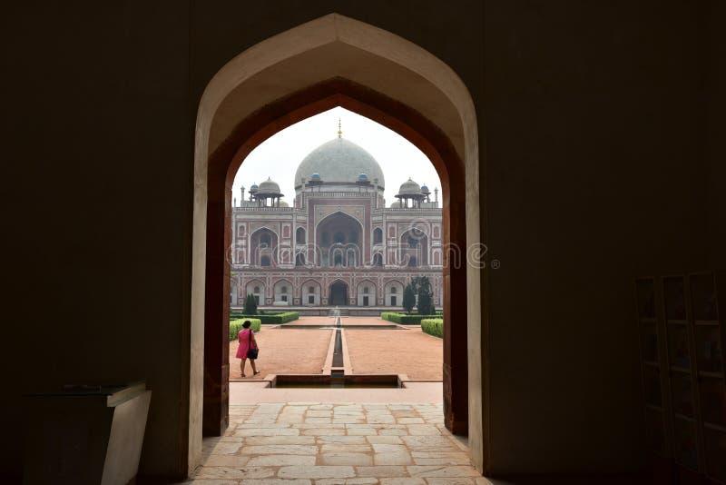 Sławny Humayun grobowiec w Delhi, India Ja jest grobowem Mughal cesarz Humayun zdjęcie stock