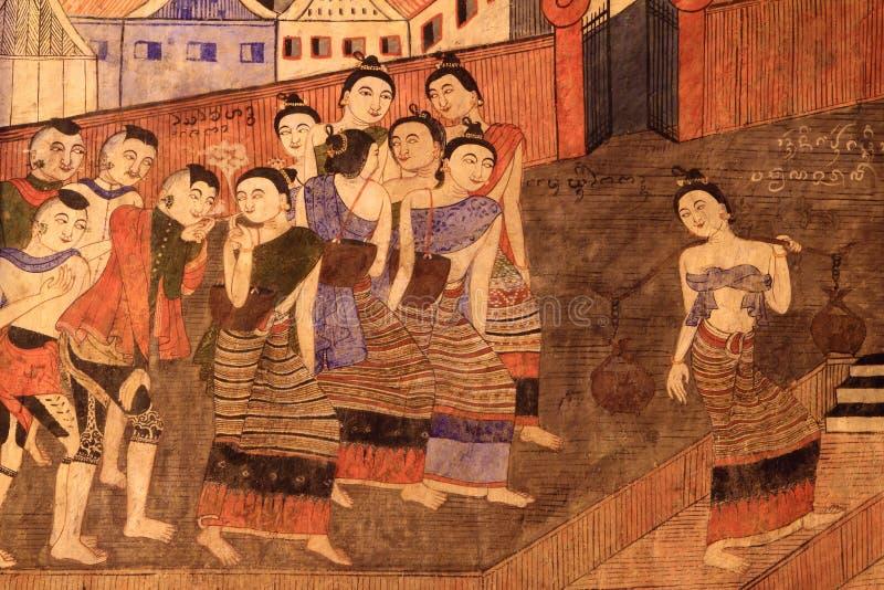 Download Sławny I Klasyczny Malowidło ścienne Obraz W Nan, Tajlandia Obraz Stock - Obraz złożonej z stary, klasyk: 28974471