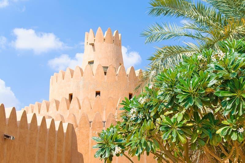 Sławny Jahili fort w Al Ain oazie, fotografia stock