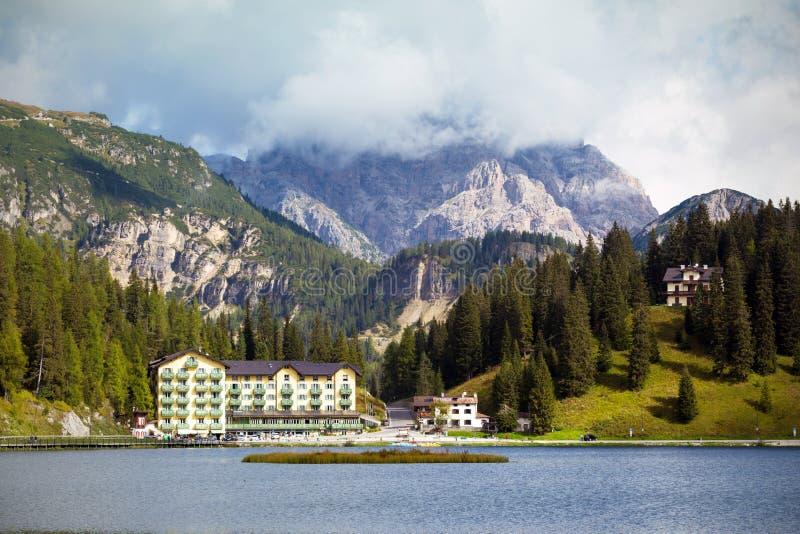 Sławny jezioro Lago Di Misurina obrazy royalty free
