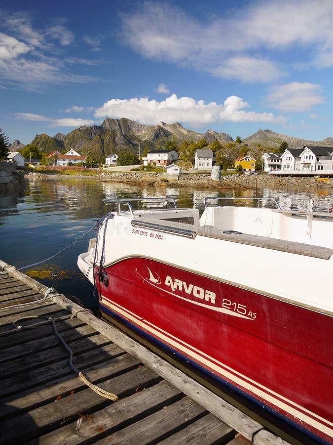 Sławny Lofoten, Norwegia krajobraz, Nordland obraz stock