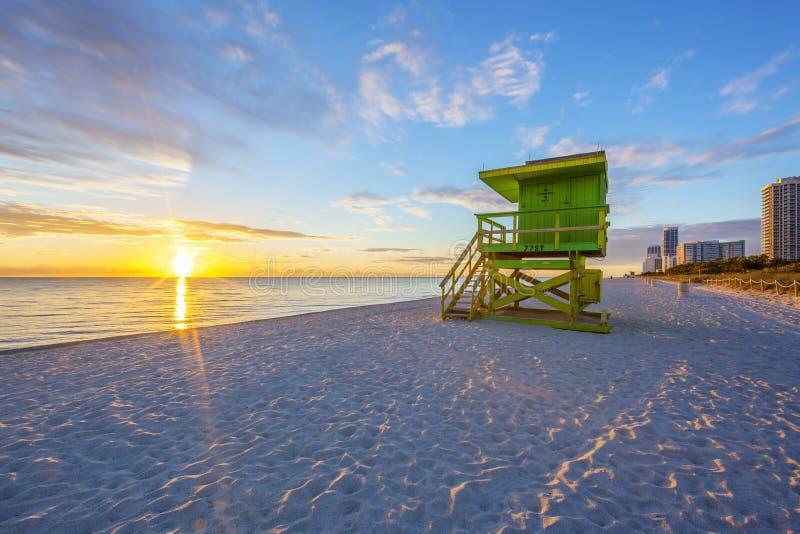 Sławny Miami południe plaży wschód słońca obrazy royalty free