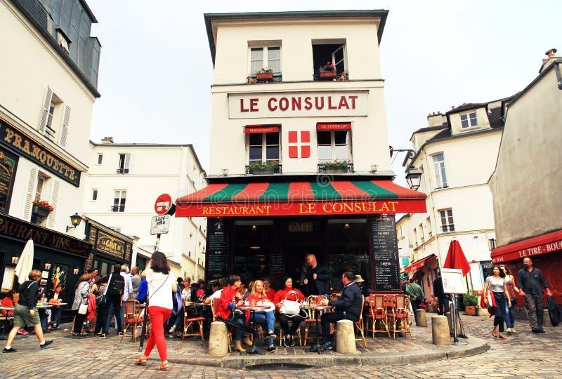 Sławny Montmartre okręg w Paryż zdjęcie royalty free