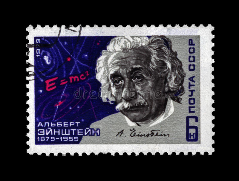 Sławny naukowiec Albert Einstein około 1979, zdjęcie stock