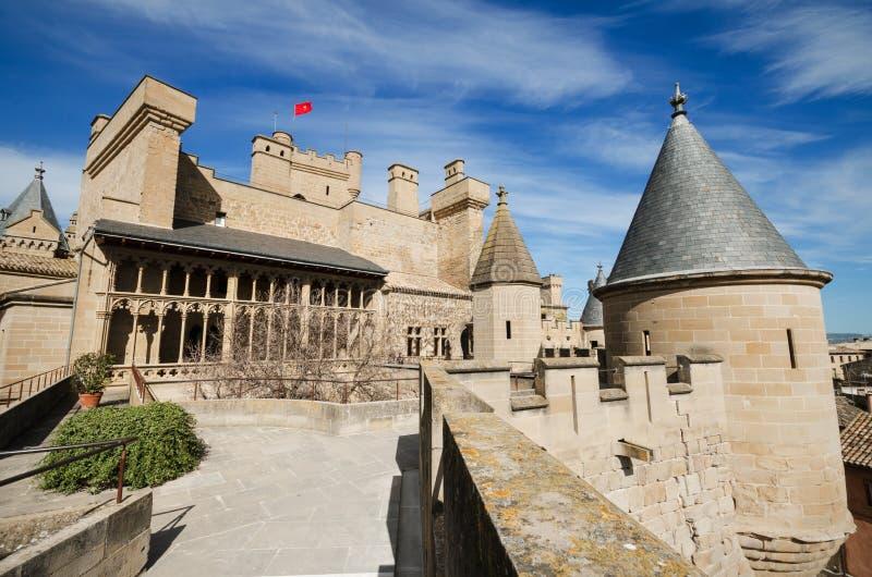 Sławny Olite kasztel w Navarra, Hiszpania obraz stock