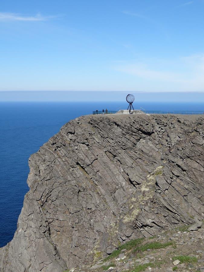 Sławny północny przylądek w Norway na pięknym dniu zdjęcia royalty free