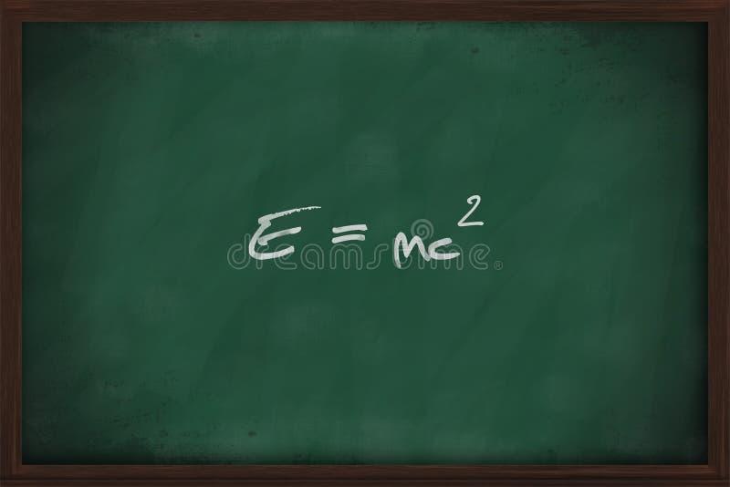 Sławny physics równanie na blackboard zdjęcie stock
