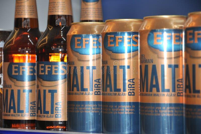 Sławny piwo w Istanbuł zdjęcie royalty free