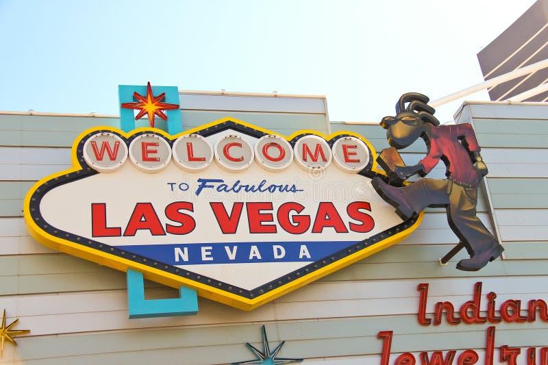 Sławny powitanie Bajecznie Las Vegas znak zdjęcia stock
