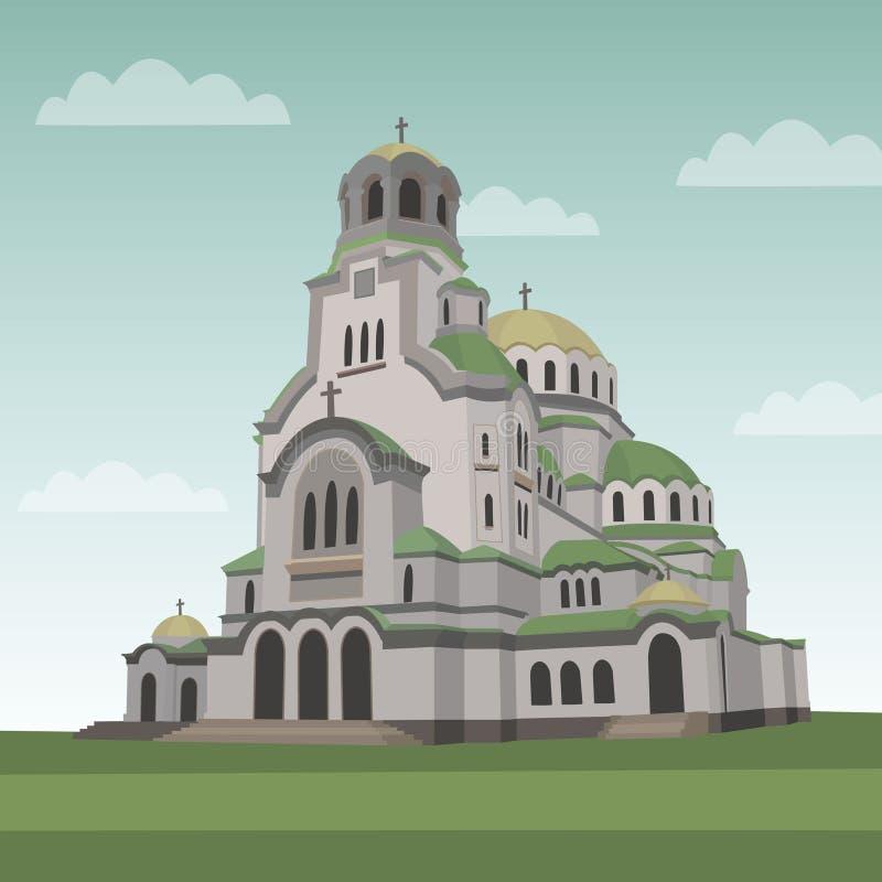 Sławny punkt zwrotny Bułgaria ilustracja wektor