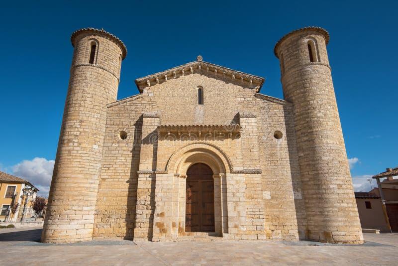 Sławny romańszczyzna kościół w Fromista, Palencia, Hiszpania obrazy stock