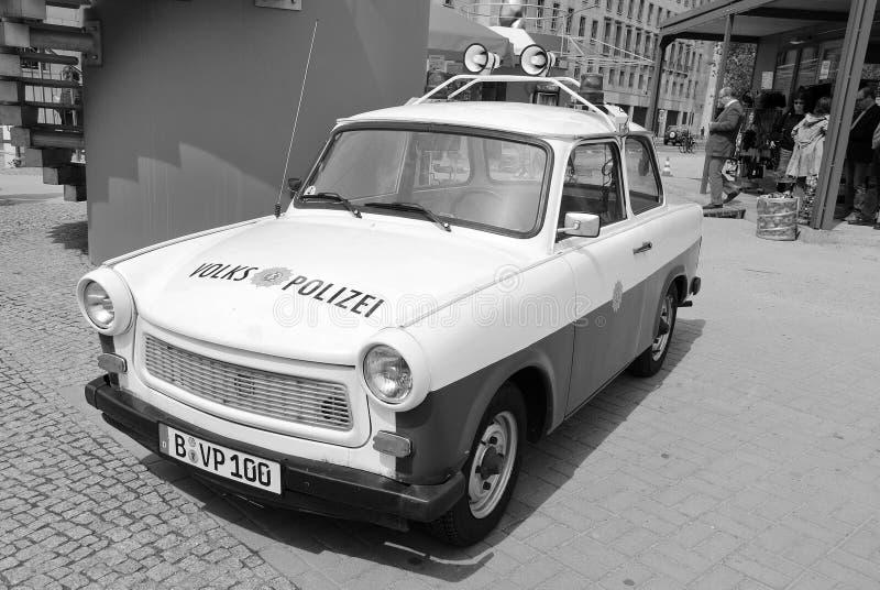 Sławny Trabant samochód policyjny zdjęcia royalty free