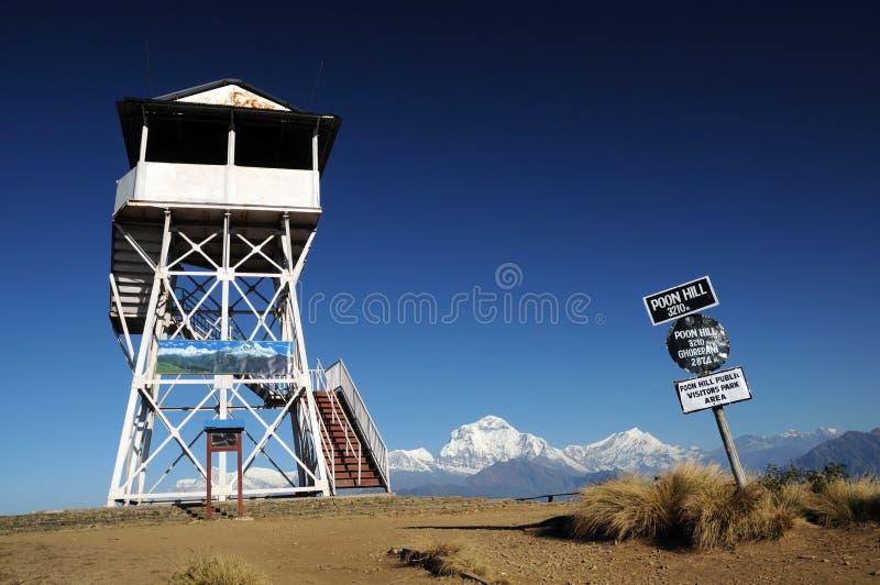sławny wzgórza Nepal punktu poon widok zdjęcia stock
