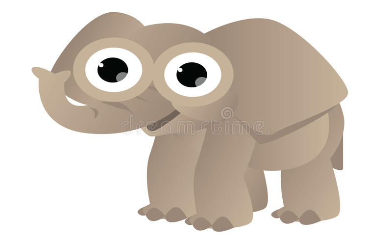 Słoń śliczna kreskówka ilustracji