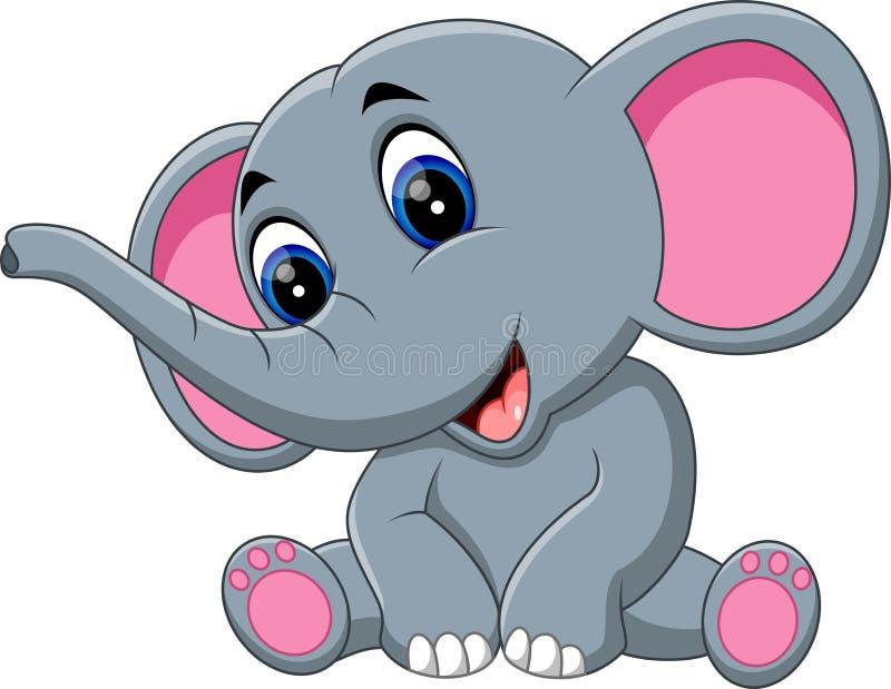 Słoń śliczna kreskówka royalty ilustracja