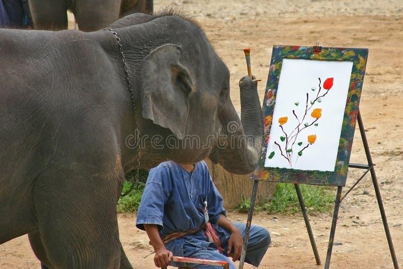 słoń artystyczny obraz stock