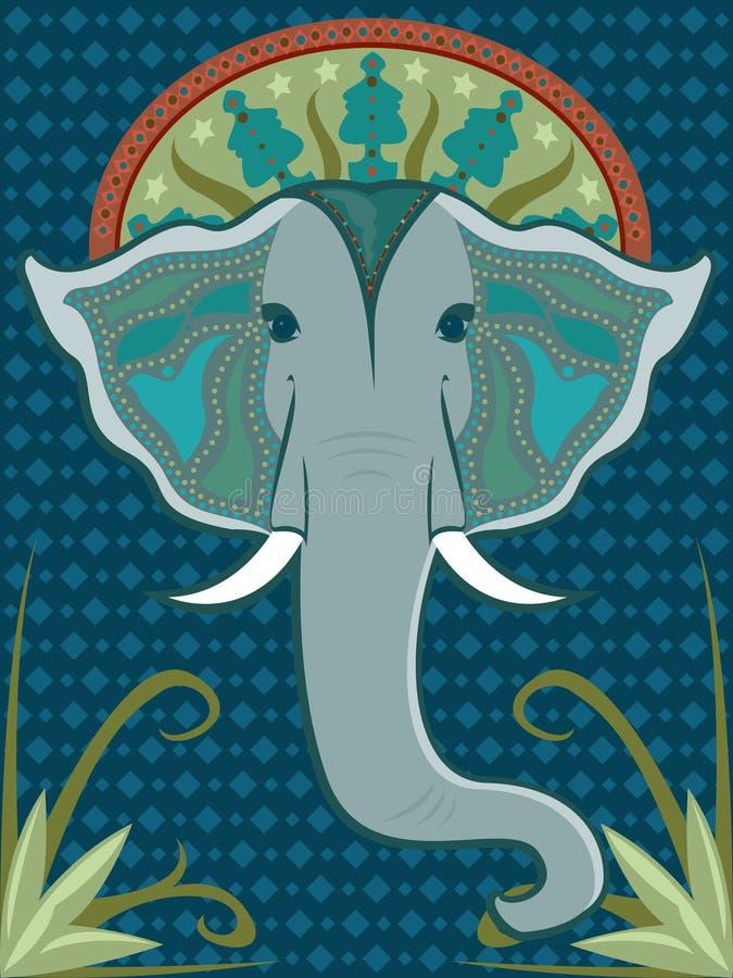słoń deseniujący ilustracji