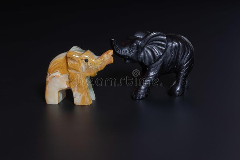 słoń figurki fotografia stock