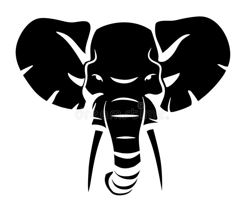 Słoń głowa ilustracja wektor