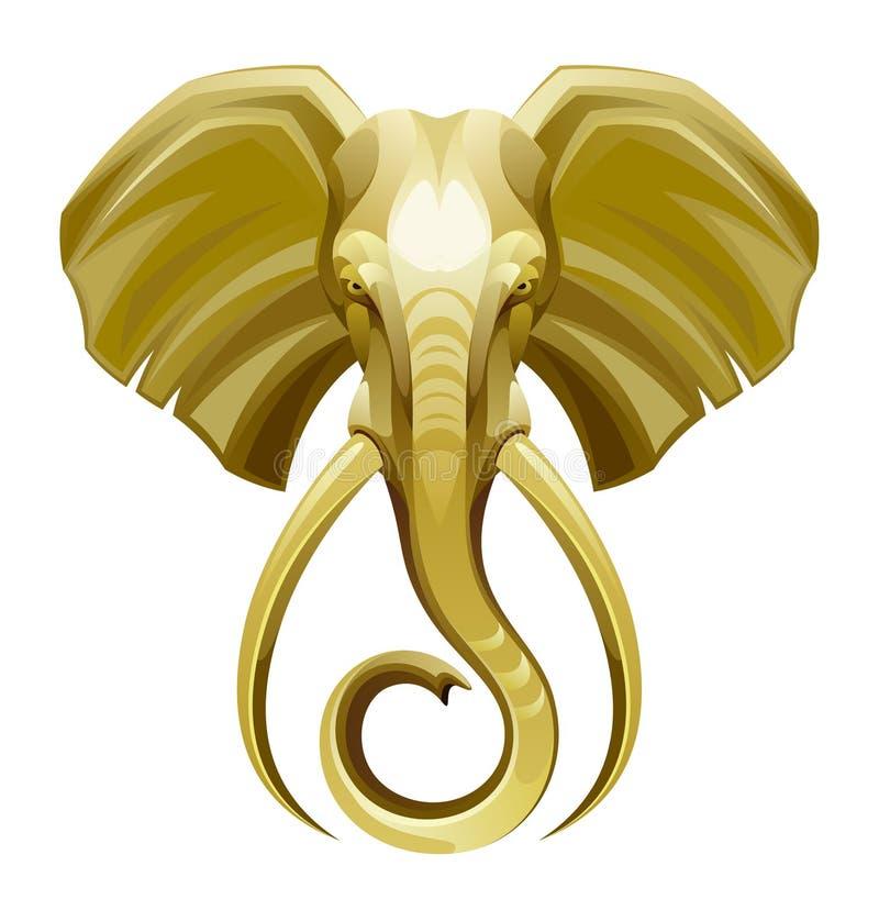 Słoń głowa royalty ilustracja