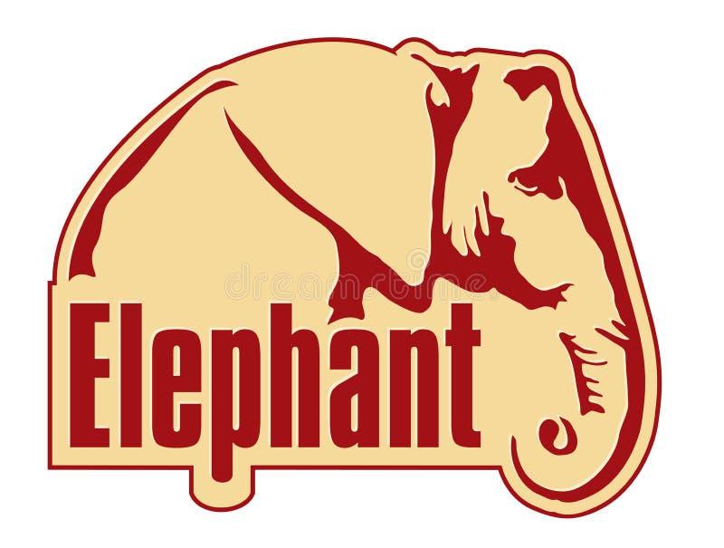 słoń ikona royalty ilustracja