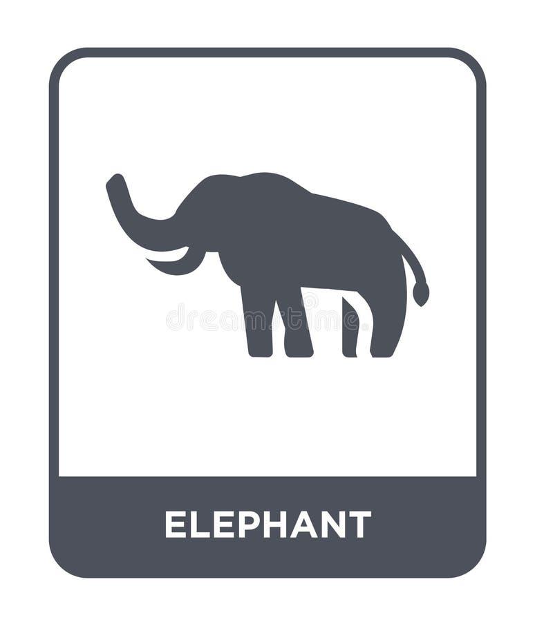 słoń ikona w modnym projekta stylu słoń ikona odizolowywająca na białym tle słoń wektorowej ikony prosty i nowożytny mieszkanie ilustracji