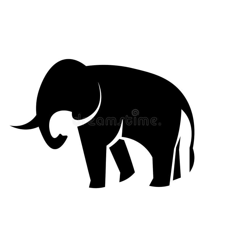 Słoń ikony wektor royalty ilustracja