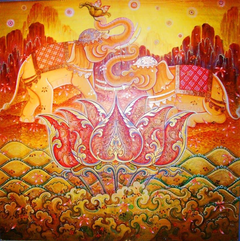 słoń ilustracja Thailand ilustracji
