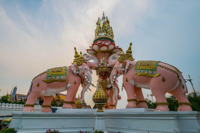 Słoń Kamienna statua zdjęcie stock