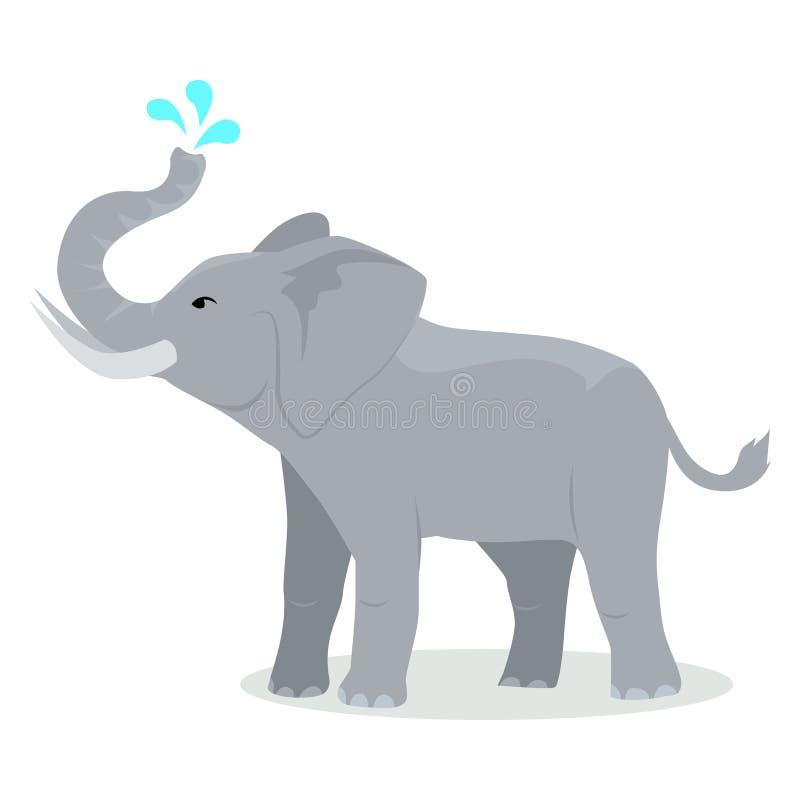 Słoń kreskówki ikona w Płaskim projekcie ilustracja wektor